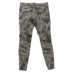 Zara Camouflage Stretch Jeans Sz 8